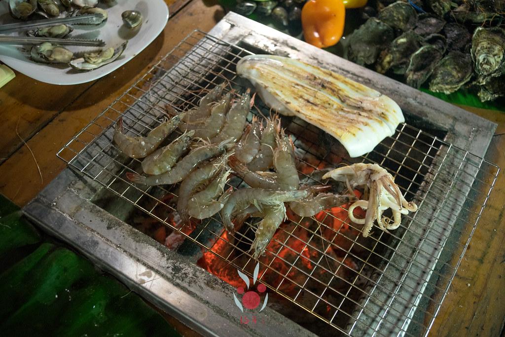最奢華的中秋烤肉組 海鮮大集合之 龍膽石斑、泰國蝦、蚵、大卷 |小農聯盟19