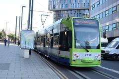 CT 2530 @ West Croydon bus station (ianjpoole) Tags: croydon tramlink bombardier cr4000 2530 working service from wimbledon new addington