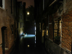 Midnight in Venice (Something Sighted) Tags: venice italy venise venezia night boat canal light reflections darkness
