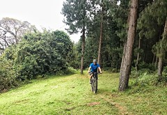 Riding on the slopes of Mt Meru.
