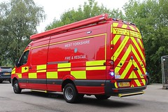 YG17 FKJ (Ben Hopson) Tags: west yorkshire fire rescue service wyfrs frs 999 british station bingley volkswagen vw crafter flood response water sea river lake parked blues 2017 17plate yg17 fkj yg17fkj