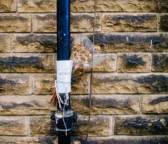 Faded Memory (Peter.Bartlett) Tags: vsco ricohcapliogx100 unitedkingdom facade urbanarte drainpipe westyorkshire colour kirklees urban uk fujifortiaspemulation lunaphoto huddersfield wall peterbartlett sign