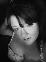 I feel a sin coming on. (Southern Darlin') Tags: me self selfportrait sensual woman photography photo portrait people bw blackandwhite bnw freckles