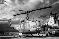 Iroquois and the Storm (Ross Dinsdale) Tags: iroquois canon1dsmarkii bellhelicopters belluh1h nikcollection tucson medivac belluh1hhuey huey clouds pasm monsoon pimaairandspacemuseum bell monsoon2018