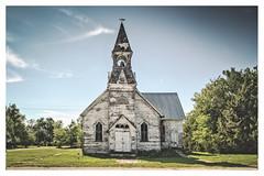 Lost Springs, Kansas (Dawn Loehr Photography) Tags: church dawnloehrphotography canon7dmarkii abandoned rural ruraldecay ruins steeple