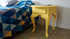 Yellow Repaint Nightstand Close-ups (osiristhe) Tags: cellphone painting furniture decor