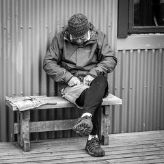 Working the wood (François aka Tweek) Tags: iceland icelandic nordic laugavegur landmannalaugar trekk stunning breathtaking