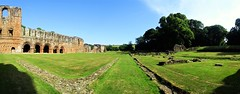 Panoramic looking south along the east range (eucharisto deo) Tags: furness abbey lakes lake lakes18 district cumbria lancashire monastery monastic ruins ruin dissolution henry viii cistercian panoramic panorama