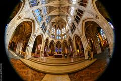 Eglise Saint-Séverin (Paris) (L'Abominable Homme de Rires) Tags: eglise eglisesaintséverin paris gothique church architecture fisheye 815mmfisheyef4 dxo canon canon5d 5dmkiii photolab lightroom