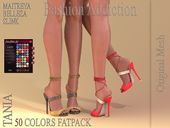 TANIA SHOES ORIGINAL MESH (Owner Fashion Addiction) Tags: belleza venus isis freya maitreya slink hourglass physique fashionaddiction fashion event access secondlife shoes boots