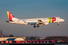 "[ORY.2016] #TAP.Express #TP #Portugalia"" #NI #Embraer #ERJ190 #CS-TPT #awp (CHR / AeroWorldpictures Team) Tags: tap express embraer erj190 msn 19000495 reg cstpt eng cf34 rmk named evora history aircraft built sao jose dos campos sjk brazil delivered triplinhasaéreas 8r tib pppjr cabin y106 tsf azullinhasaéreasbrasileiras ad azu sold portugalia ni pga opf operating tapexpress tp plane aircrafts airplane european airlines airways portugal sunset landing planespotting paris orly ory lfpo france nikon d300s zoomlenses nikkor 70300vr raw lightroom aeroworldpictures awp chr 2016"