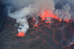 The cracked surface of the lava lake (supersky77) Tags: nyiragongo congo lava lake drc crater volcano