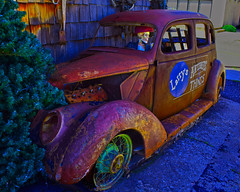 Half Off Free Parking (oybay©) Tags: rusty crusty ford larrysantiquesandthings larrys cottonwood arizona cottonwoodarizona az color colors colorful colour car automobile antiqueshop rustyandcrusty store building artwork