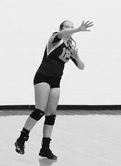 IMG_1687 (SJH Foto) Tags: girls high school volleyball teens team wyalusing varsity serve burst mode black white blackandwhite bw monocolour