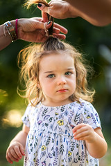 Getting ready (Irena Rihova) Tags: child children childrenportrait portrait portraiture childportrait childhood hair curly face eyes adorable beautiful cute