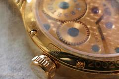 (MargoLuc) Tags: macromondays cogwheel watch gold texture natural light time