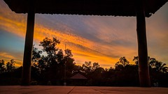 Framing sunset (shrindihi) Tags: sunset mobilephotography orange india karnataka