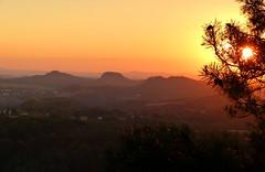 Endlich wieder Sonnenuntergang im Elbi erlebt (isajachevalier) Tags: elbsandsteingebirge sächsischeschweiz sonnenuntergang abend abendstimmung abendrot aussicht landschaft sachsen brandaussicht panasonicdmcfz150