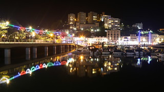 Torquay seafront at night
