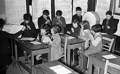 In the classroom (theirhistory) Tags: boy girl child kid school pupils students class group form