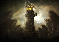 A beacon of light in a dark world (jackaloha2) Tags: fantasy dark light evil hope storm stormy lighthouse lightning tower darktower quest stephenking sciencefiction