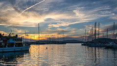 Sunset at Alghero harbour (Michael's shots) Tags: sunset nikond3100 boats yachts sea harbour sky clouds seascape