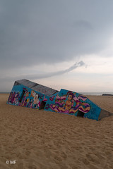 After war (MF[FR]) Tags: bunker plage de la pointe cap ferret samsung nx1 ciel sky nuage clouds beach sable sand couleurs graff street art aquitaine france bassin darcachon
