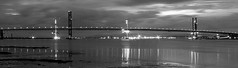 the Forth Road Bridge at Night (johnny_9956) Tags: night bridge forth scotland canon lights monochrome outside landscape outdoor