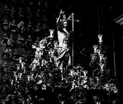 Light and Shadow / Luz y Sombras (López Pablo) Tags: black white bw church religion statue canon powershot lalaguna tenerife spain light shadow