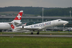HB-JAN, Zurich, May 16th 2004 (Southsea_Matt) Tags: hbjan swissinternational crossair embraer erj145lu zurich kloten lszh zrh switzerland canon 10d may 2004 spring airplane aeroplane jetplane jet jetliner airliner aviation plane transport regionaljet