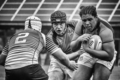Close Support (squirrel.boyd) Tags: rugby ulster scrumcap tackle rugbyball sport blackwhite blackandwhite