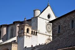 Basilica di San Francesco (III) (Milos Korenev) Tags: church gothic basilica italy architecture white blue sky contrast historical landmark assisi