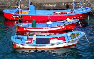 Puerto de la cruz tenerife muelle del pesquero boat