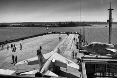 USS Midway Flight Deck (Photos By Clark) Tags: california cities ca ussmidway canon2470 unitedstates location sandiego northamerica locale places where us aircraft carrier history museum static nik lightroom silverefx thesandiegoist