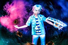 Bakura (updated) (bdrc) Tags: asdgraphy bakura yugioh cosplay night photoshoot kaori lala lalachan smoke flash color gel sony a6000 people portrait girl crossplay guy effect photoshop