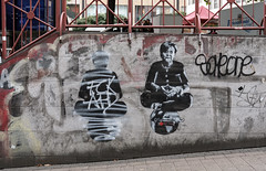 Raute (stapel2) Tags: graffiti wandbild merkel globus raute fischeinzelhandel essen