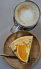 2018 Sydney: Coffee with Orange and Poppyseed Cake (dominotic) Tags: 2018 food cake dessert coffee flatwhite orangeandpoppyseedcake macro coffeeobsession coffeecup yᑌᗰᗰy orangeslice sydney australia