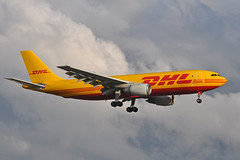 EI-EAC Airbus A300-203F EGLL 16-07-11 (MarkP51) Tags: eieac airbus a300203f a300 aircontactors dhl ag abr cargo freighter london heathrow airport lhr egll england airliner aircraft airplane plane image markp51 aviationphotography sunshine sunny nikon d5000