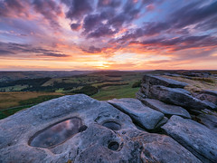 Stanage Afterglow (Stephen Elliott Photography) Tags: peakdistrict derbyshire hopevalley hathersage stanageedge evening sunset afterglow summer long exposure olympus em1 714mm kase filters