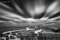 "Whoosh (""A.S.A."") Tags: kasko shipwreck blackhallrocks beach coast countydurham britain northeast northeastcoast northsea lowtide wideangle cloud movement infrared infrared830nm sonya7rinfrared830nm sonyzeissvariotessarfe1635mmf4 irnd leefilters bigstopper neutral density 10stop blackwhite mono monochrome greyscale niksoftware silverefex asa2018"
