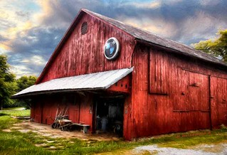 Photo Painting of a Lancaster County PA Barn