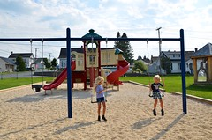 The Kids At A Playground In Madawaska (Joe Shlabotnik) Tags: 2018 aroostook swings august2018 violet everett madawaska maine playground afsdxvrzoomnikkor18105mmf3556ged