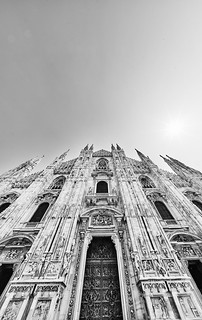Mailand Duomo bw 2