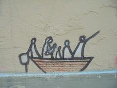 962 (en-ri) Tags: exit profughi barcone nero bianco firenze wall muro graffiti writing