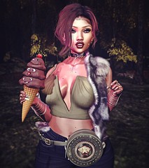 Always Time for Ice-Cream! (Smokeahontis1) Tags: monso collabor88 catwa suicidalunborn pinkfuel emarie swallow leflcasse pseudo blueberry candydoll kustom9 access majesty realevilindustries fameshed nanika sorumin smokeahontis alwaystimeforicecream secondlife sl