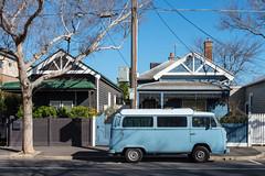 Footscray (Westographer) Tags: footscray melbourne australia westernsuburbs suburbia parked streetscape houses homes kombi vw vwkombi
