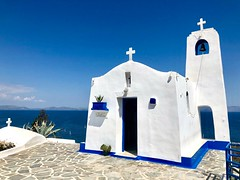 """Endless White and Blue"" (RF-Edin) Tags: love hope church sun sea greece"