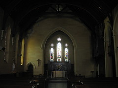 Looking North Across the Nave to the Chancel of St. Mark the Evangelist Church of England - George Street, Fitzroy (raaen99) Tags: stmarktheevangelist stmarks stmarksfitzroy stmarksanglican churchofengland anglicanchurch anglican fitzroychurch fitzroy georgest georgestreet church placeofworship religion religiousbuilding religious melbourne melbournearchitecture 1853 1855 1850s nineteenthcentury victorian victoriana 19thcentury victoria australia suburban suburbs melbournesuburbs bluestone tracery gothicarchitecture gothicrevivalarchitecture gothicrevivalchurch gothicchurch gothicbuilding gothicrevivalbuilding gothicstyle gothicrevivalstyle architecturallydesigned jamesblackburn lloydtayler leonardterry charleswebb architecture building window stainedglass stainedglasswindow gothic gothicdetail lancet lancetwindow interior churchinterior
