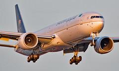 HZ-AK33 - Boeing 777-3FGER - LHR (Seán Noel O'Connell) Tags: saudiarabianairlines saudi hzak33 boeing 7773fger b777 b77w 777 heathrowairport heathrow lhr egll jed oejn 27r aviation avgeek aviationphotography planespotting
