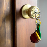 Keys in a door knob thumbnail